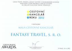 Ocenění Czech Travel Awards 2012